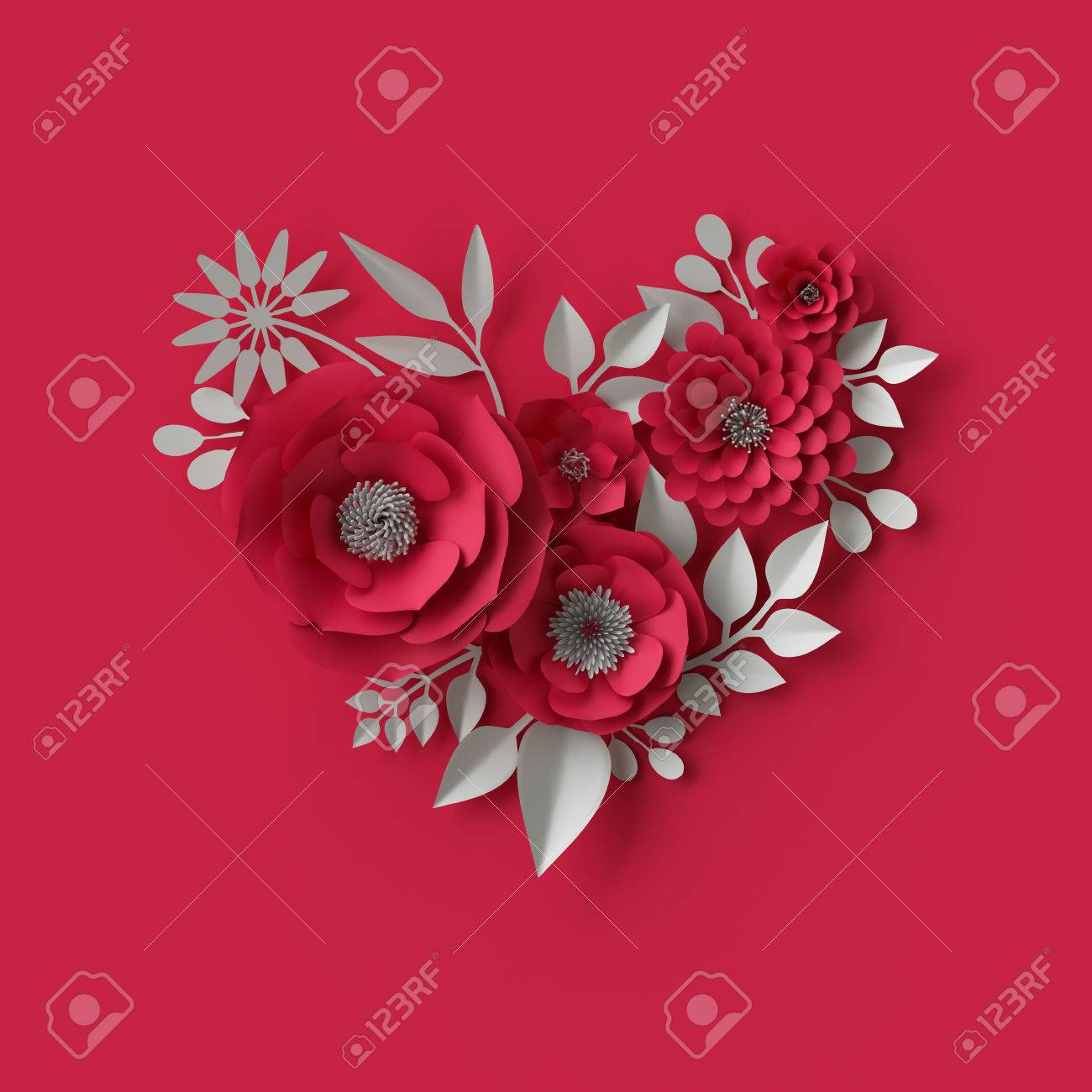 3d illustration decorative red paper flowers background stock photo 3d illustration decorative red paper flowers background stock illustration 71230005 mightylinksfo