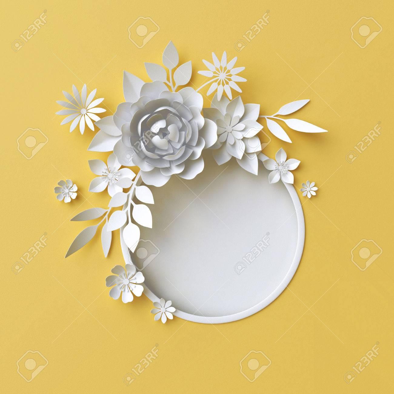 3d Render, Ilustración Digital, Ilustración Digital, Flores De Papel ...