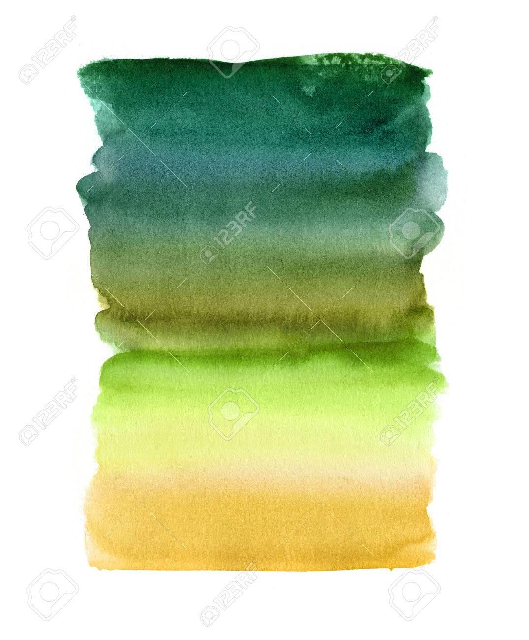 Fond Aquarelle Abstraite Mélange Coups De Pinceau Illustration