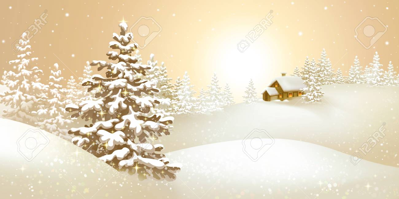 Christmas Holiday Background.Stock Illustration