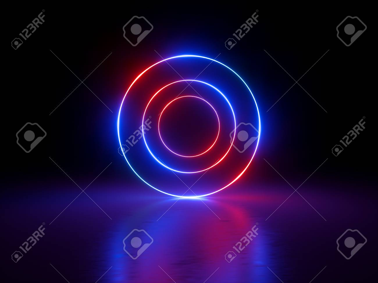 color glowing vector ring colorful image set neon free royalty rings