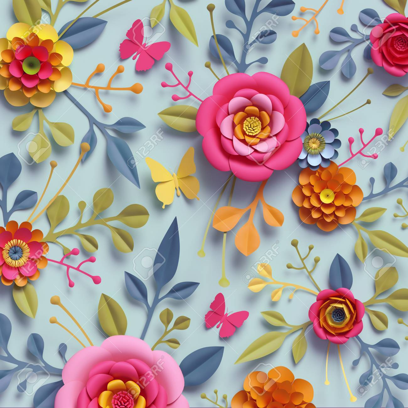 Flower Paper Wallpaper Kampa Luckincsolutions Org