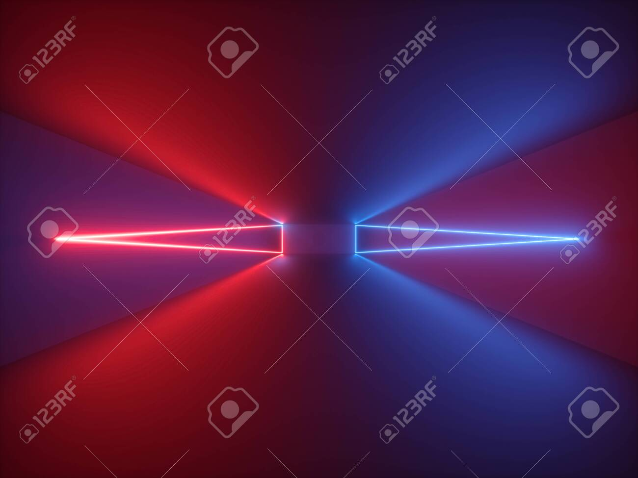 Cool 3D Render Red Blue Neon Light Abstract Background With Glowing Download Free Architecture Designs Scobabritishbridgeorg
