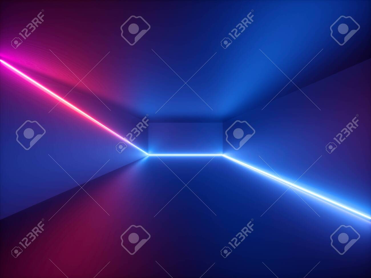 Admirable 3D Render Pink Blue Neon Light Abstract Background With Glowing Download Free Architecture Designs Scobabritishbridgeorg