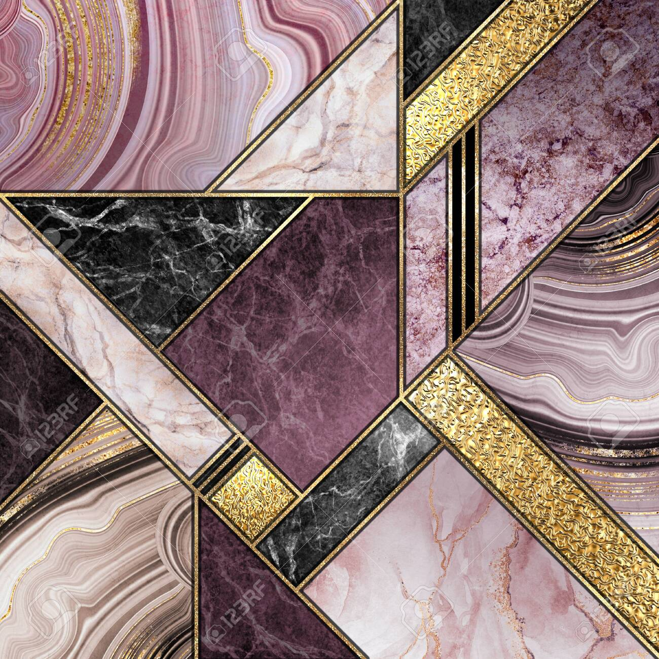 Modern Marble Mosaic Abstract Background Art Deco Wallpaper Stock Photo Picture And Royalty Free Image Image 139782817