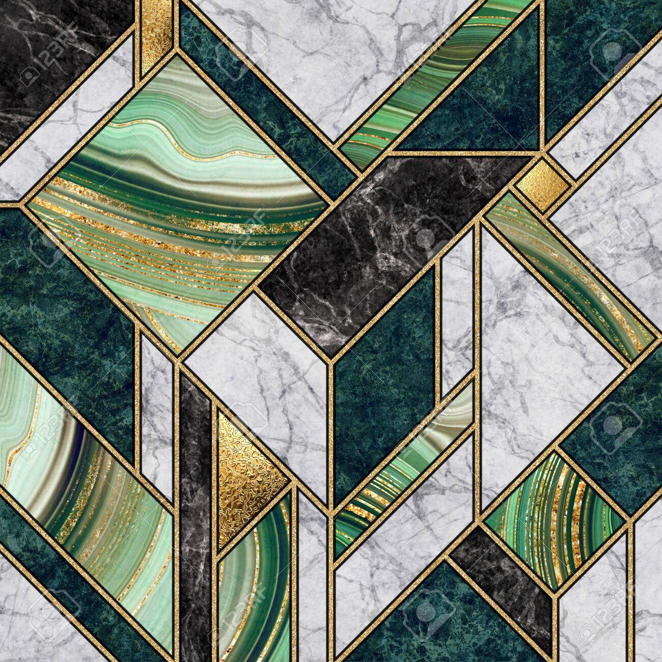 Modern Abstract Marble Mosaic Background Art Deco Wallpaper Stock Photo Picture And Royalty Free Image Image 139782780