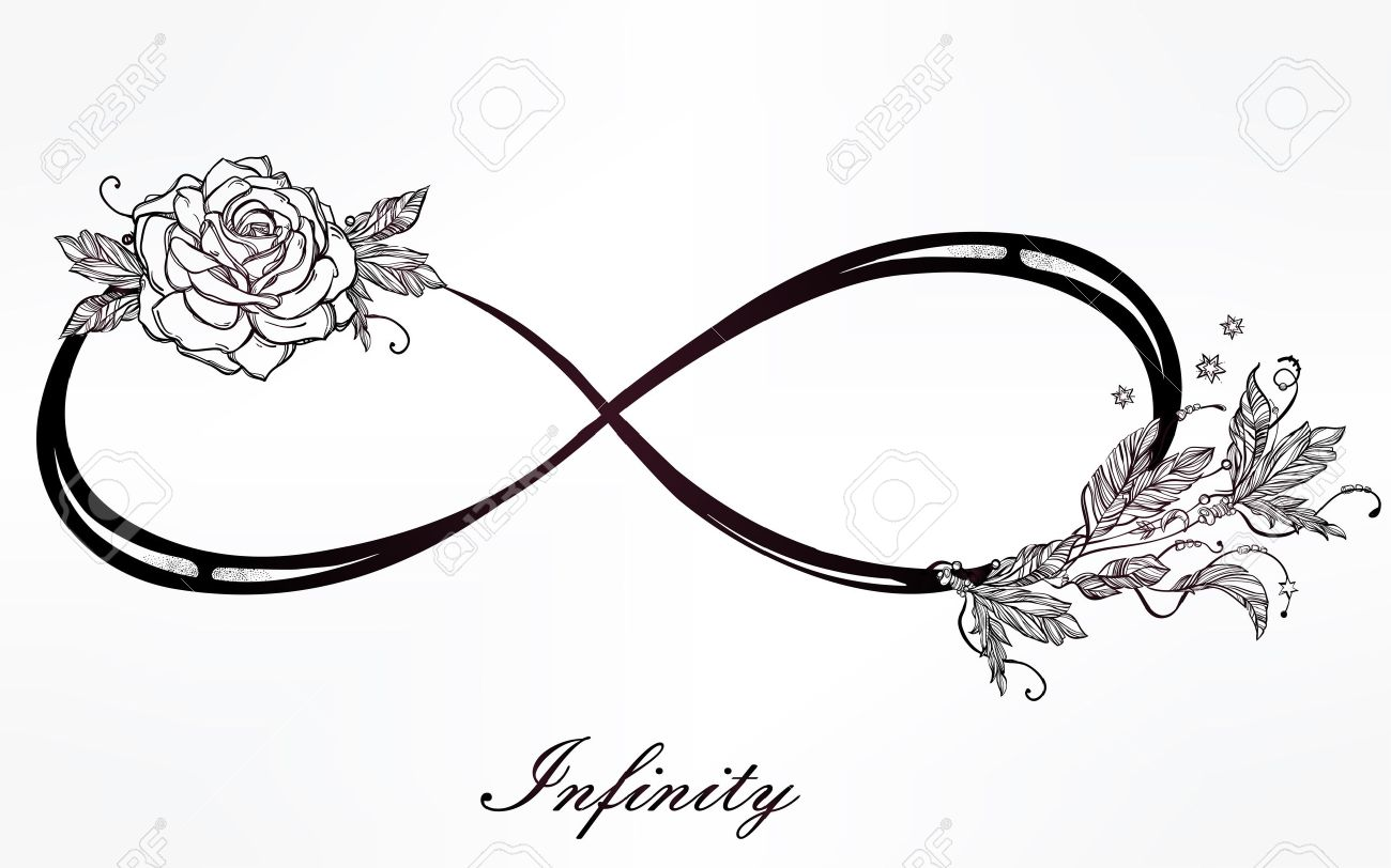 Infinity tattoo sign images for tatouage infinity tattoo sign inside hand drawn intricare infinity sign in vintage retro style with biocorpaavc Choice Image