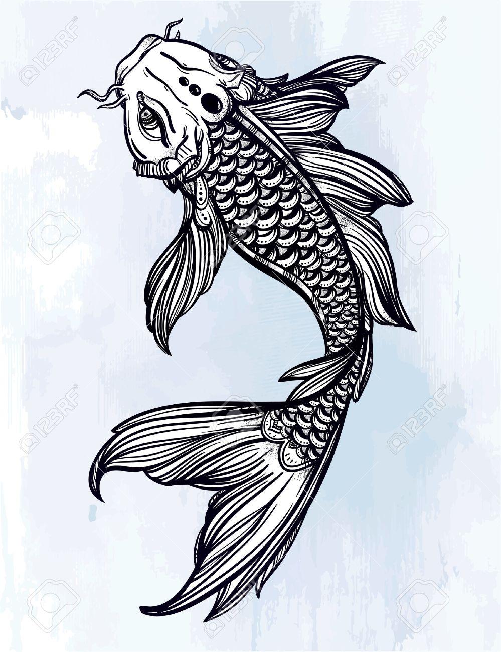 Tatuaje Pez Koi. Tatuajes De Pez Koi Mujeres. Tatuaje En Espalda De ...