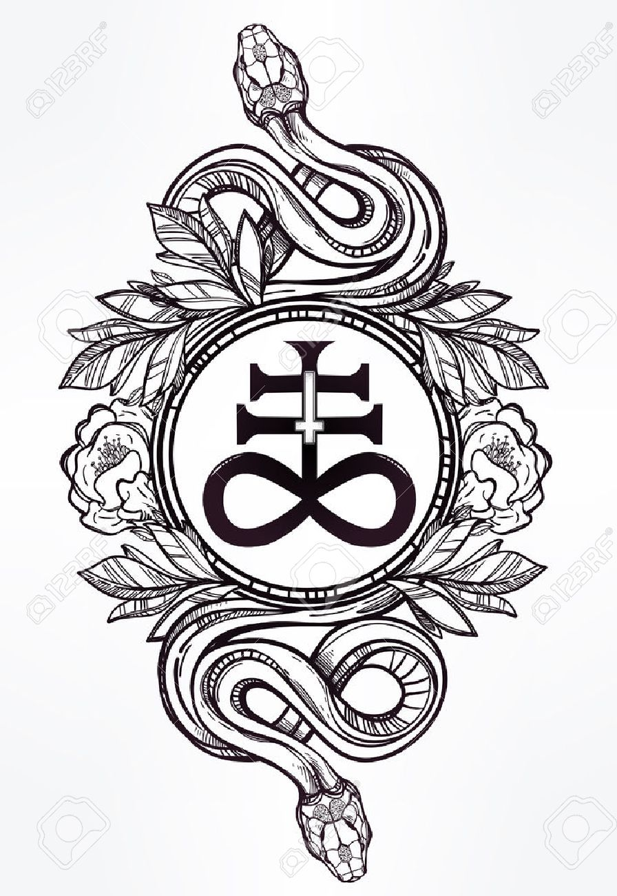 Hand drawn vintage tattoo art vintage symbol highly detailed vintage symbol highly detailed hand drawn snakes with buycottarizona