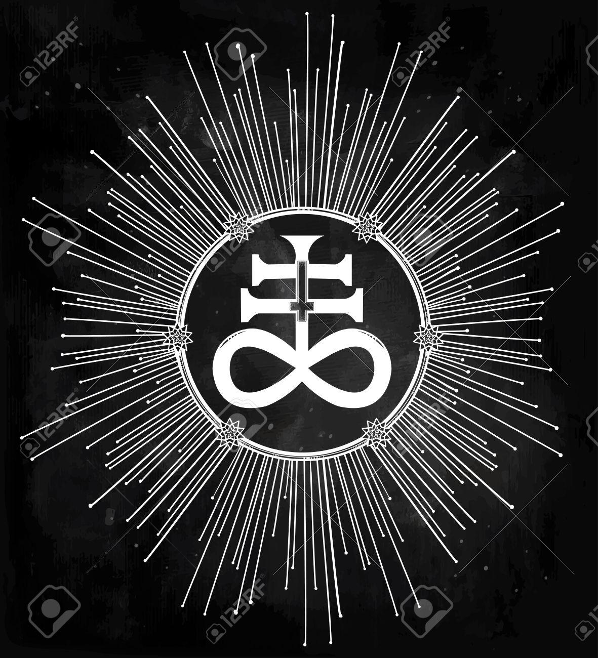 Idées de factions 47704705-La-Croix-satanique-galement-connu-comme-la-croix-Leviathan-une-variation-du-symbole-alchimique-du-so-Banque-d%27images