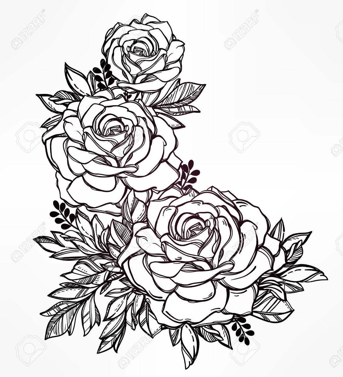 Modele Tatouage Rose Modele Tatouage Rose With Modele Tatouage Rose