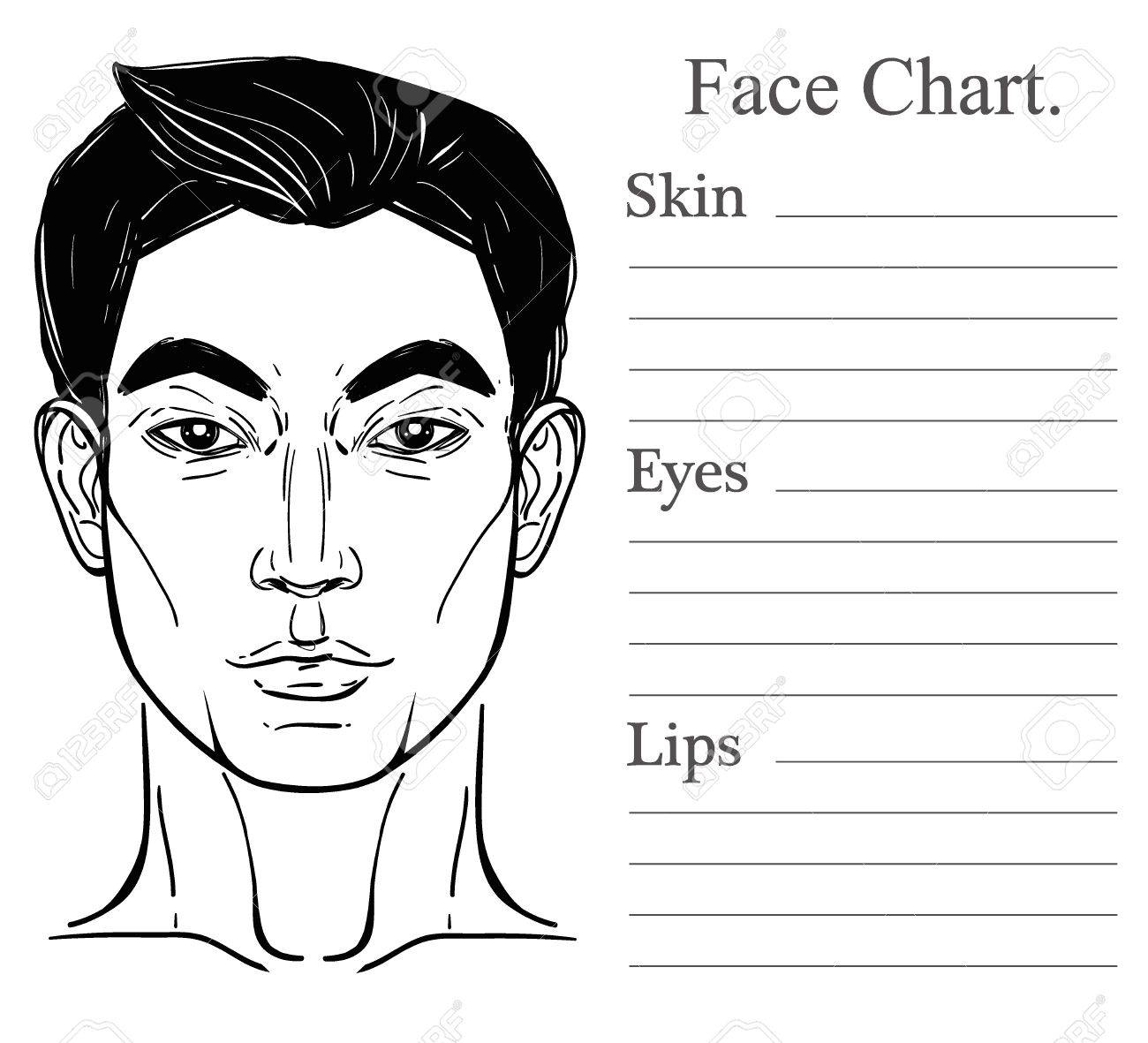 Face chart make up artist blank template vector illustration face chart make up artist blank template vector illustration beauty spa and massage pronofoot35fo Gallery