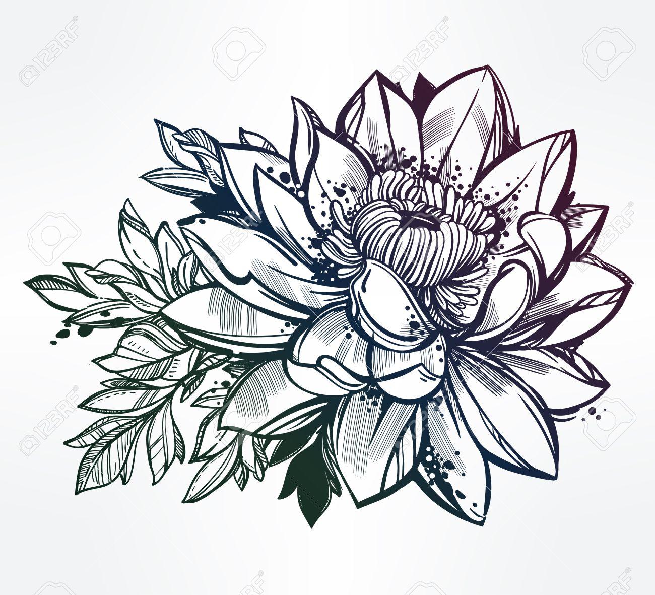 Dessin Fleur De Lotus Tattoo Xv38 Jornalagora