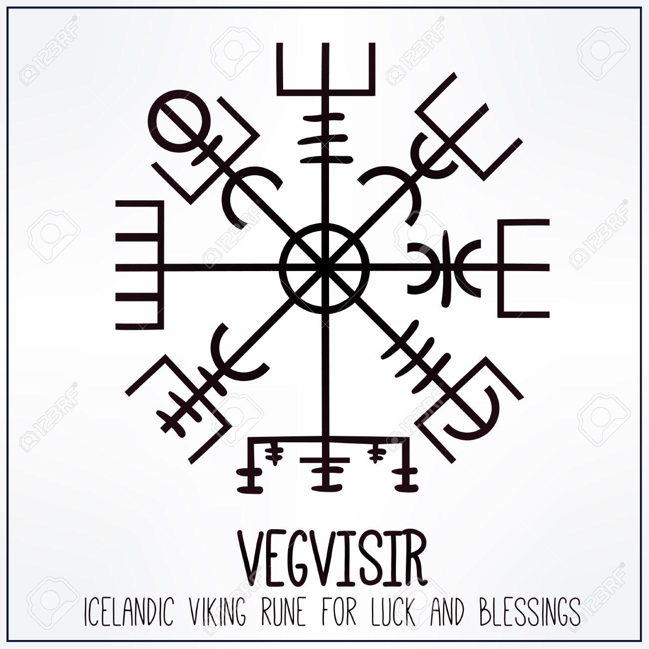 Vegvisir runescript of ancient icelandic vikings magic navigation runescript of ancient icelandic vikings magic navigation compass talisman for luck biocorpaavc Images
