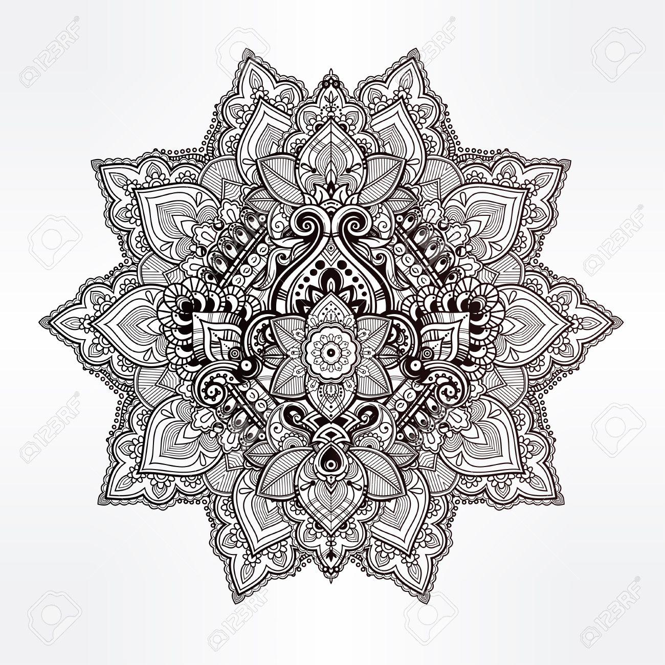 Luxury Fleur De Lotus Mandala Image - Printable Coloring Pages ...