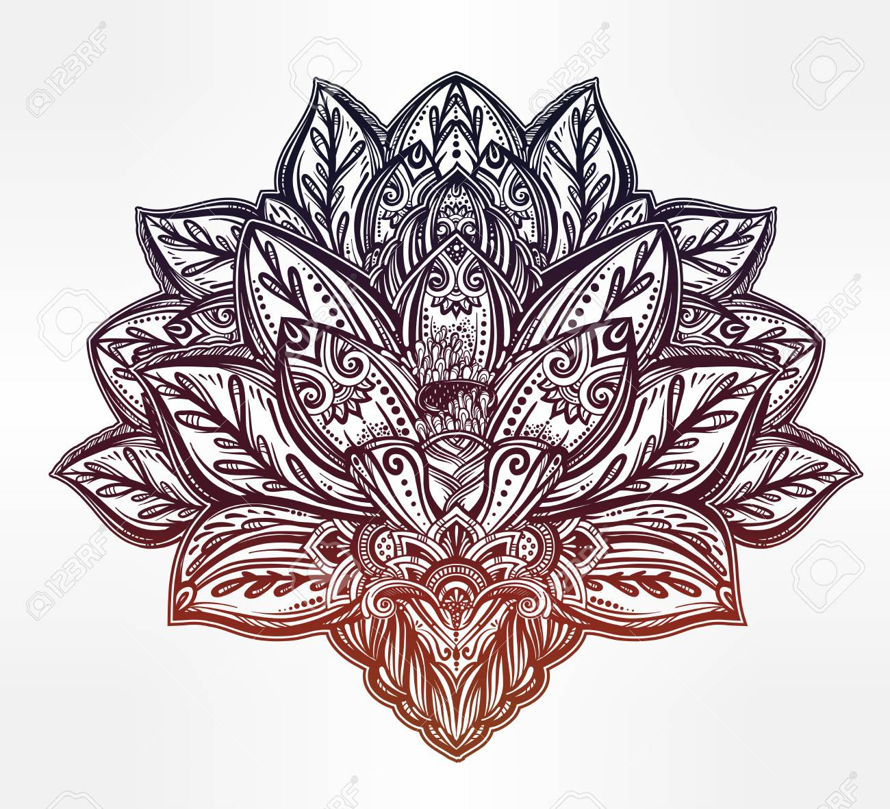 Indian Lotus Symbol Clipart Library