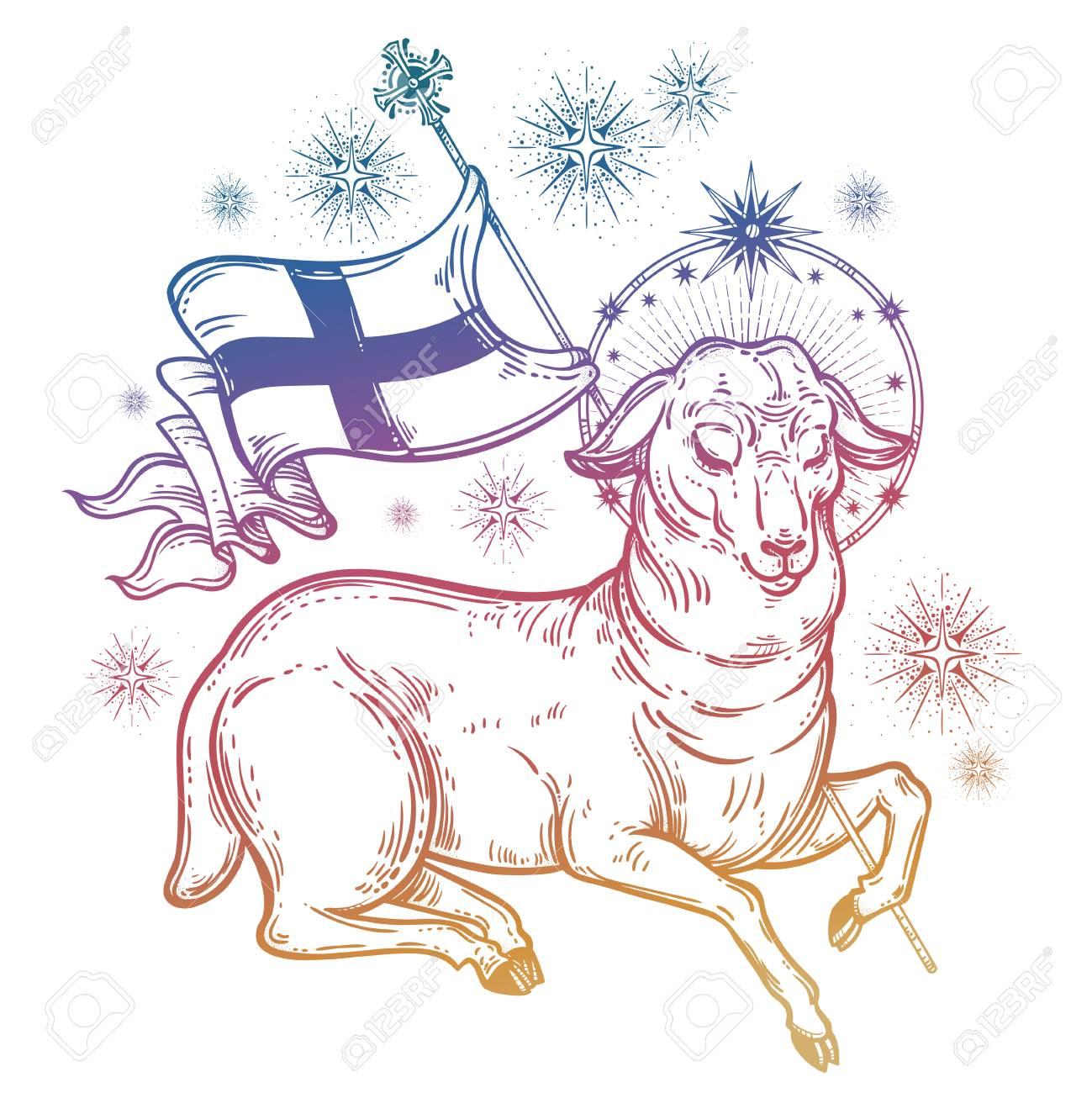 Lamb Of God Christian Symbol Royalty Free Cliparts Vectors And