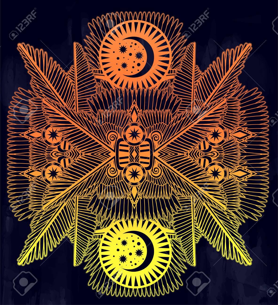 Complex Tribal Design Art