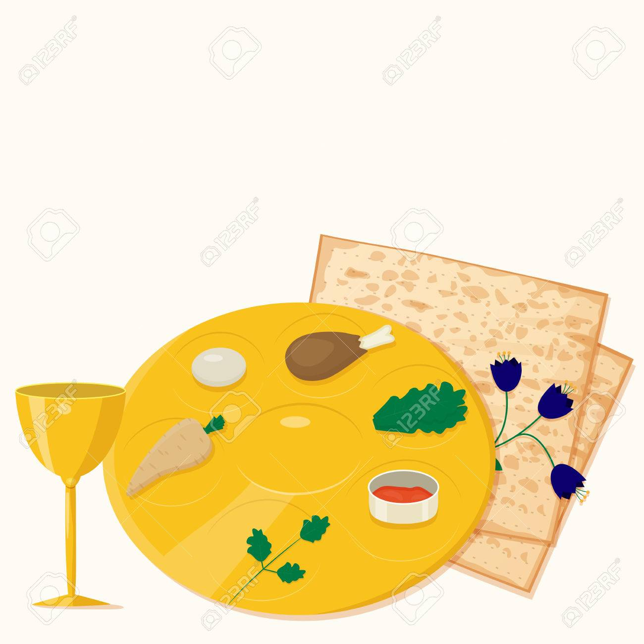 Illustration of passover seder plate with matzoh and wine royalty illustration of passover seder plate with matzoh and wine stock vector 54548370 buycottarizona