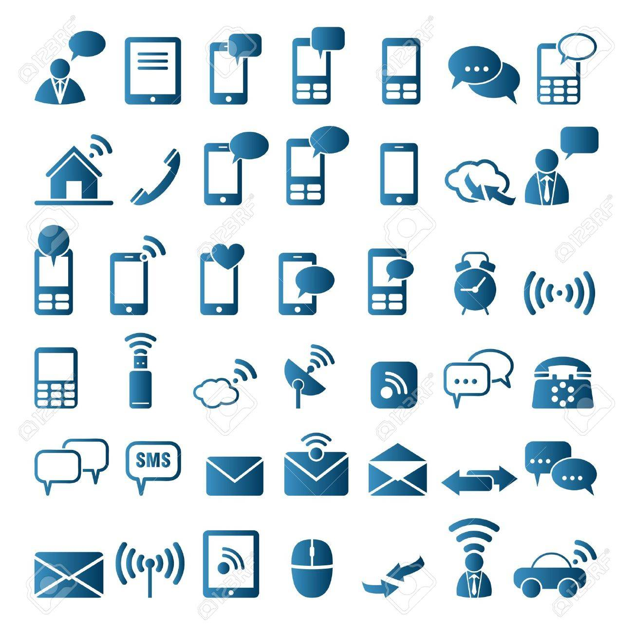 Communication icons Stock Vector - 16097563