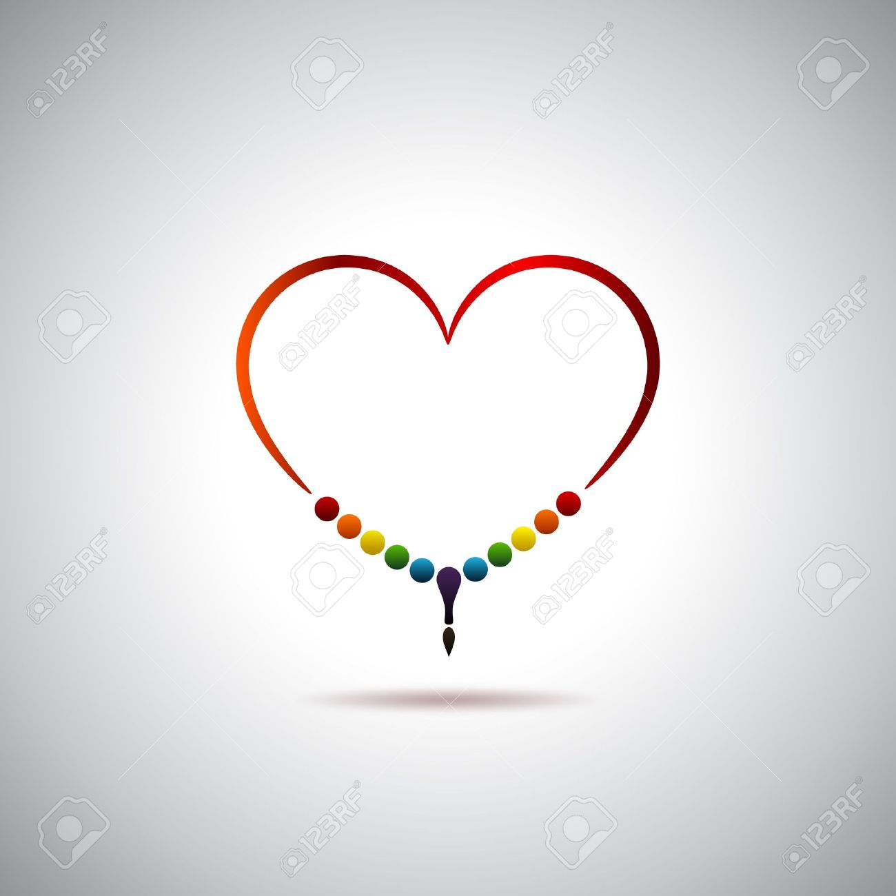 Heart and dhikr Stock Vector - 16723838