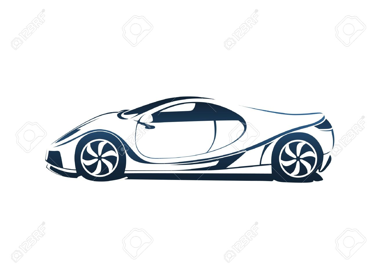 Speedy Racing Sport Car Royalty Free Cliparts Vectors And Stock