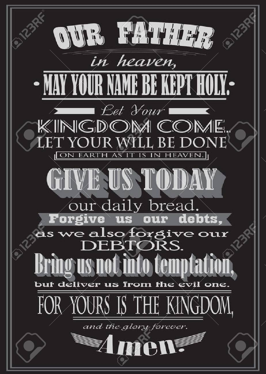 the lord u0027s prayer literal design vector illustration royalty