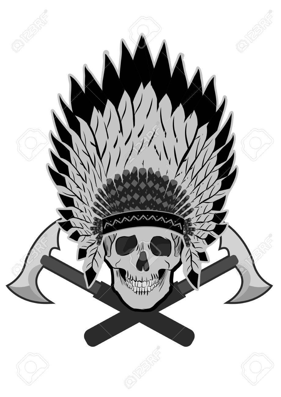 bold native american skull chief vector royalty free cliparts rh 123rf com native american vector artwork native american vector pattern free