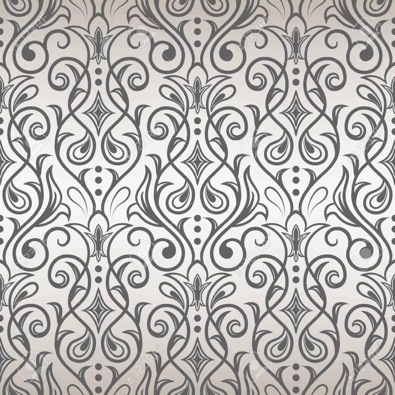 クールなデザインのシームレス花柄ベクトル イラストのイラスト素材