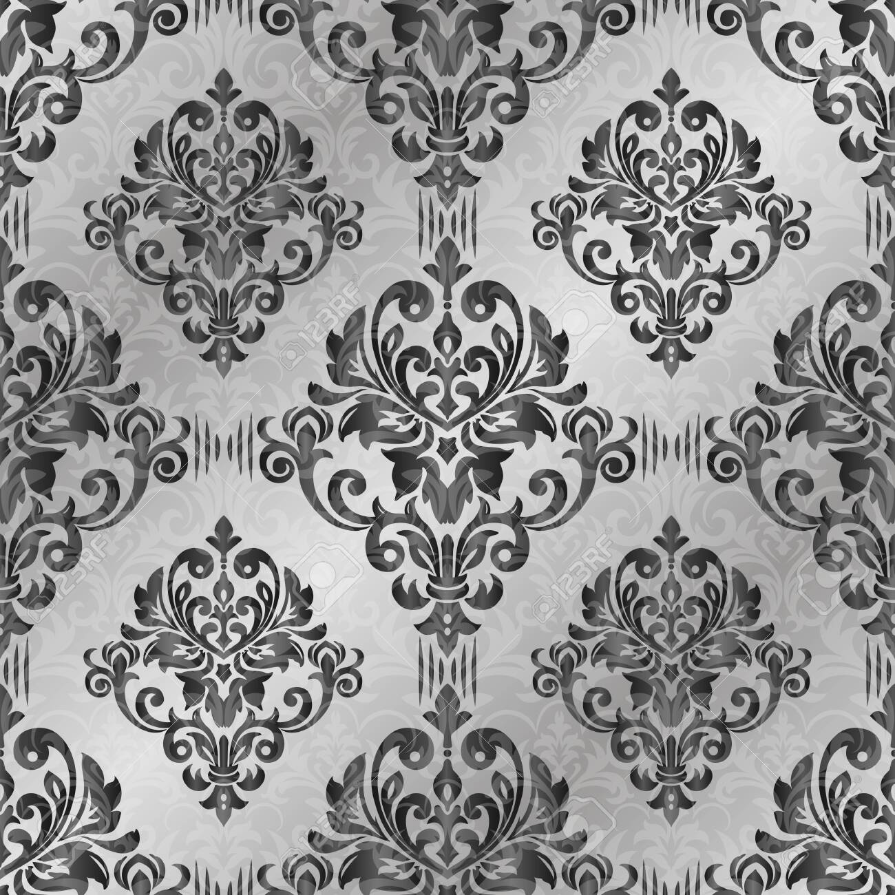 Damask seamless pattern for design. Vector Illustration - 137336054