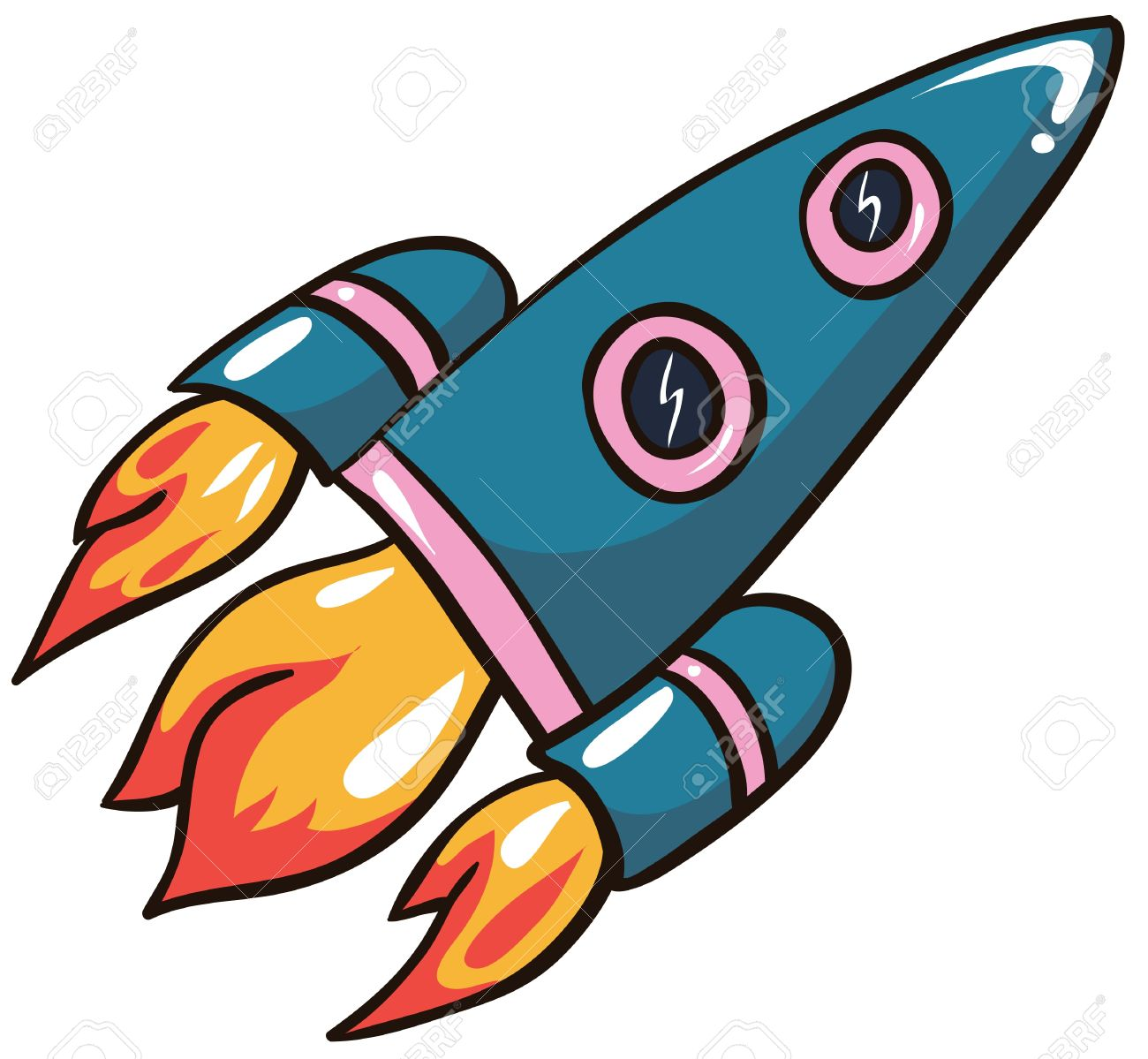 illustration cartoon rocket on white background royalty free rh 123rf com
