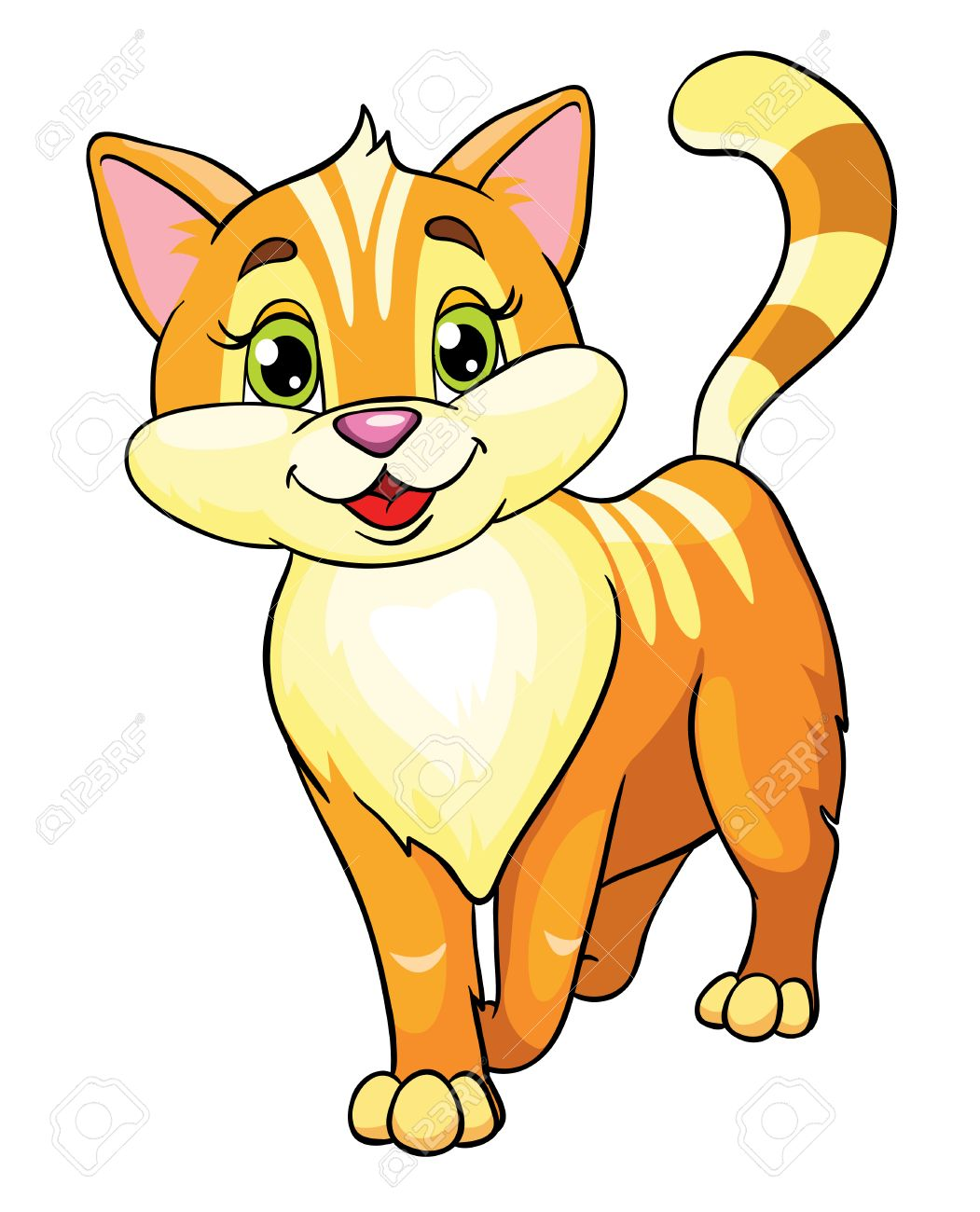 cute cat vector illustration on white background royalty free rh 123rf com cat vector free cat vector free download