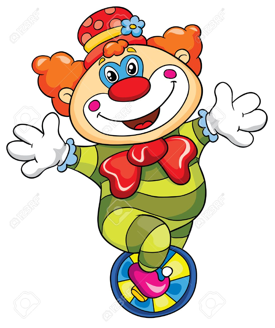 Funny clown on a white background, vector illustration - 25382813