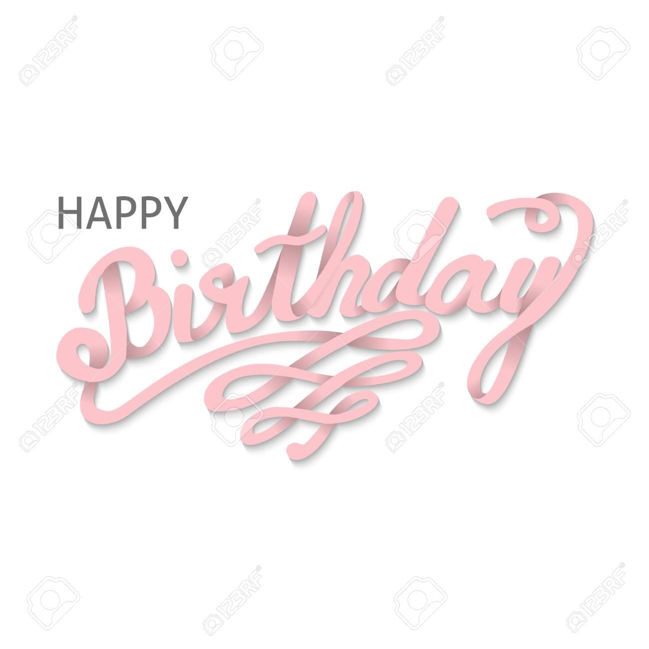 Tarjeta De Vector De Feliz Cumpleaños Handdrawn Diseño De Letras Para Invitación Y Tarjeta De Felicitación Ilustración Vectorial