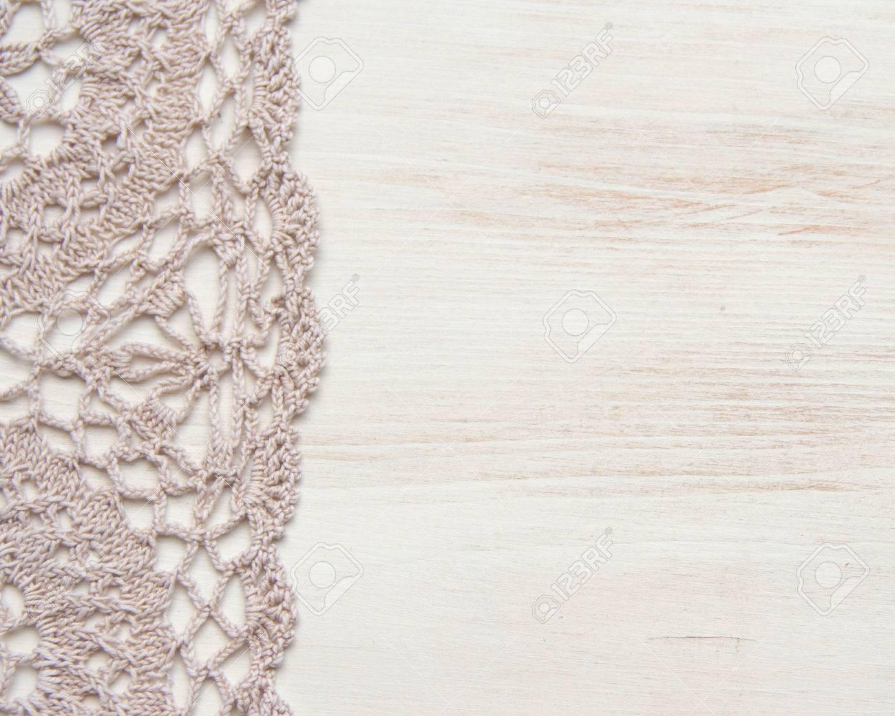 Crochet Doily Border Shabby Chic Stock Photo