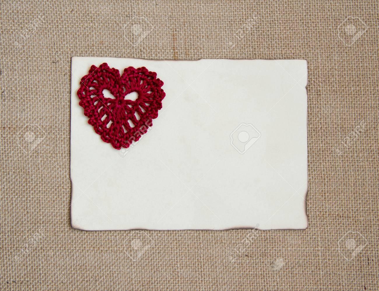 Valentine-Karte Mit Herz Häkeln Lizenzfreie Fotos, Bilder Und Stock ...