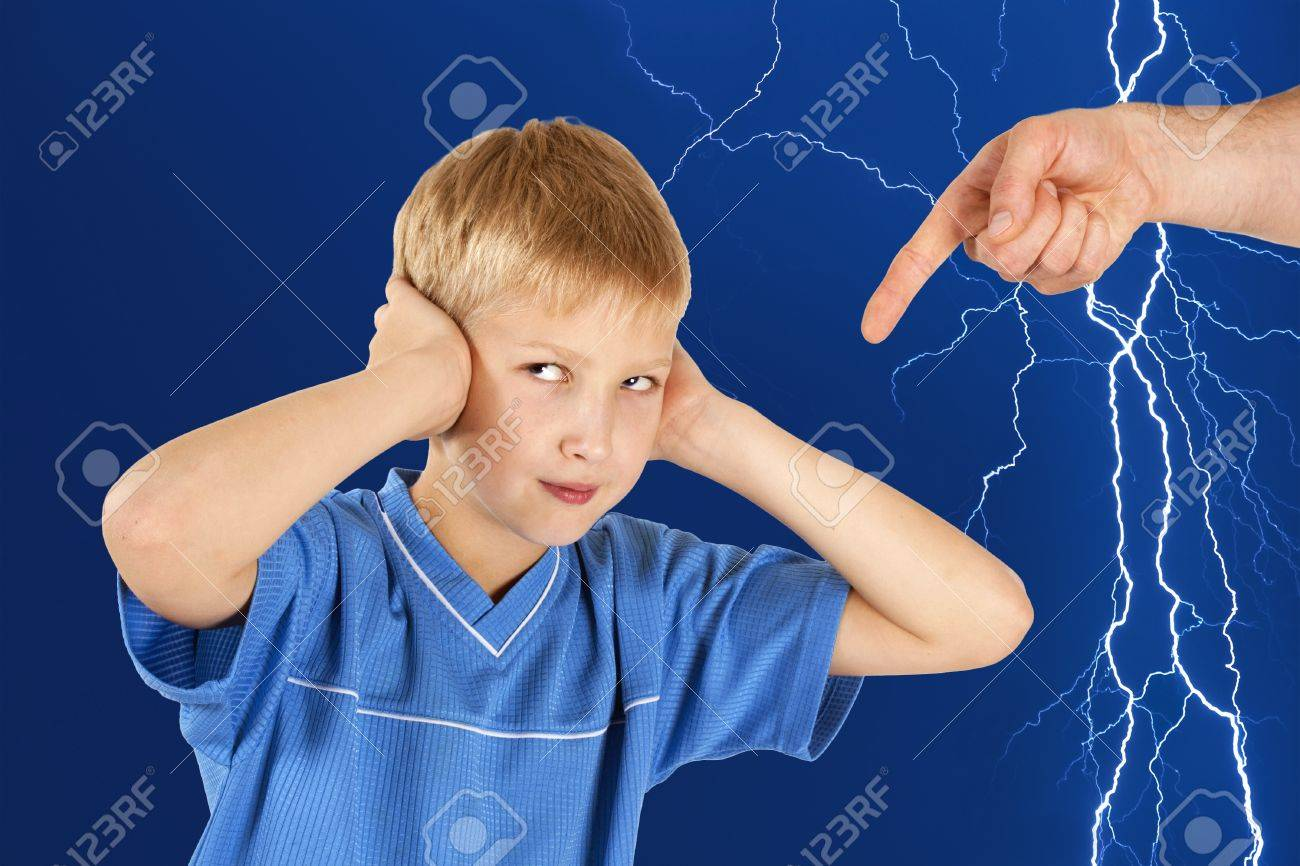 The parent brings up the child Stock Photo - 15755970