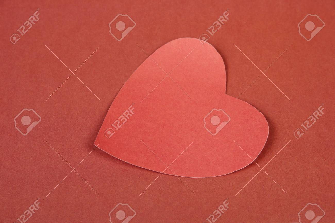 Heart from paper  Valentine Stock Photo - 17558978