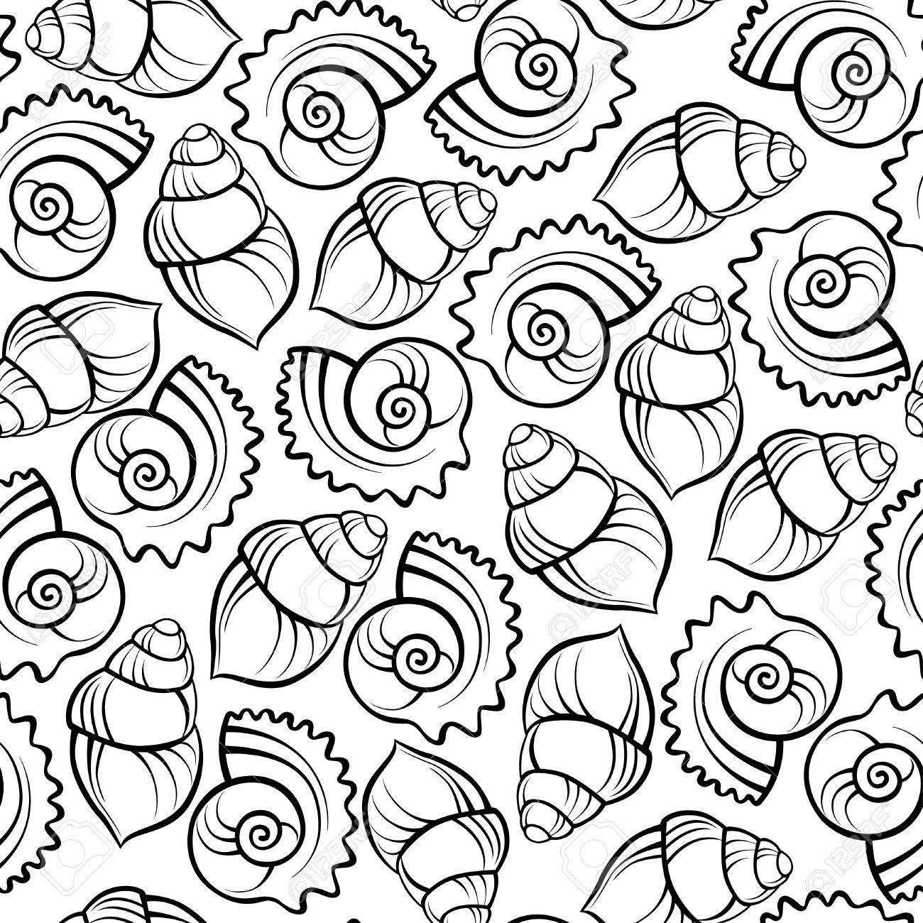 Sea shell seamless pattern Stock Vector - 15609592