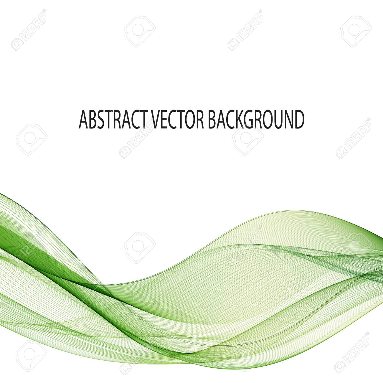 Green wave. Modern layout design. abstract vector background. eps 10 - 124474329