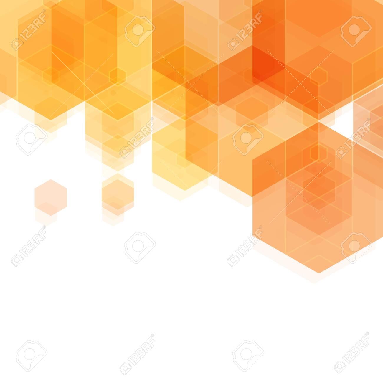 Abstract Hexagon Background Orange Vector Illustration Eps
