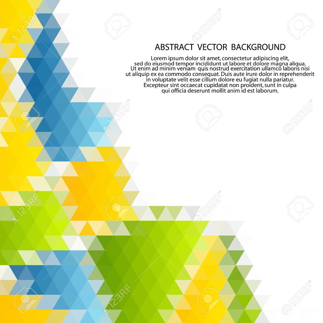 Vector of modern abstract color triangular background. - 131779227