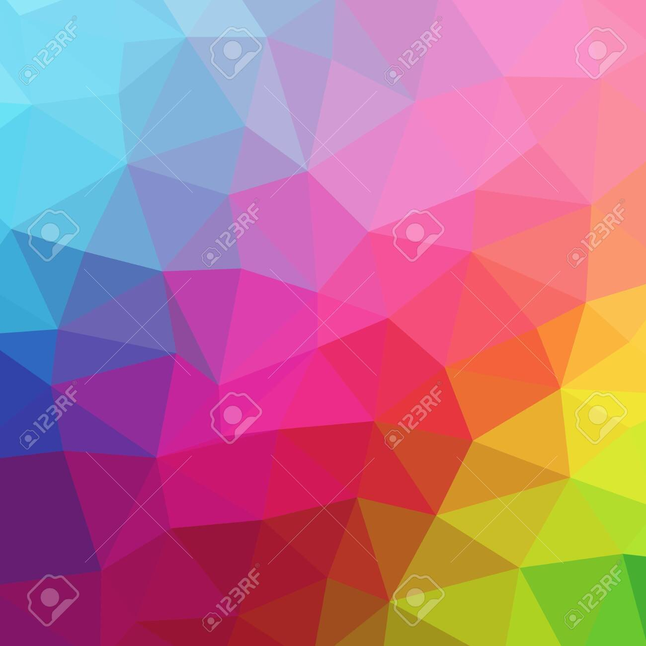 abstract color geometric design. vector triangle background - 131222625