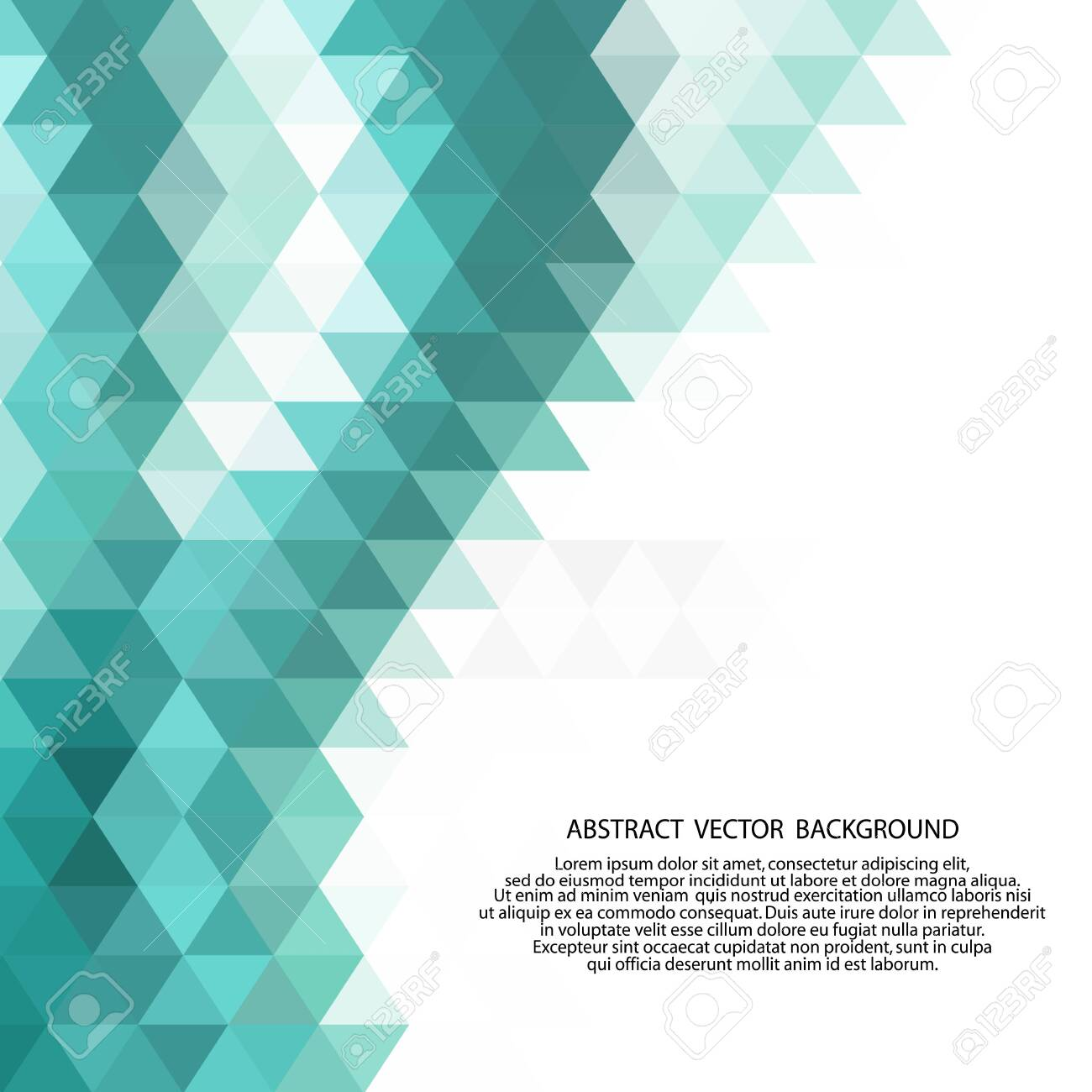 Abstract low poly background of triangles in blue colors. - 133533843