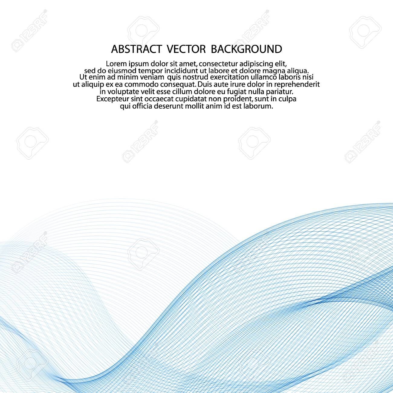 light blue vector wave. abstract background - 133534933