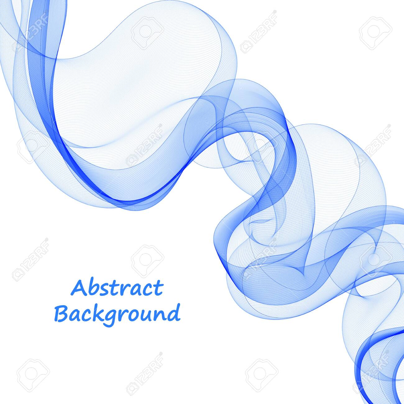 blue abstract wave. presentation template. decor for shell brochures, flyers, postcards. layout for an advertising banner - 142205239