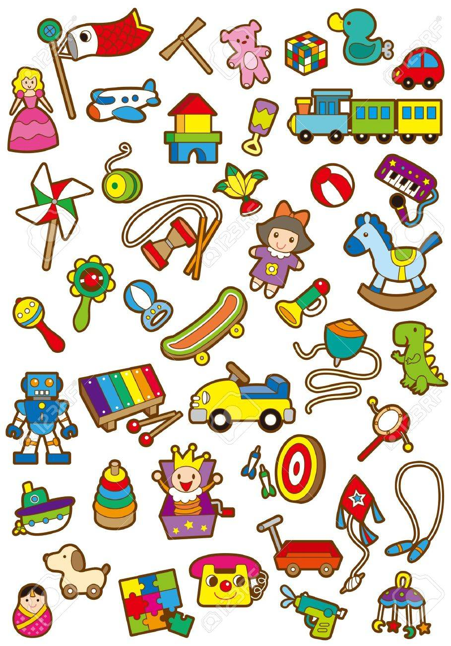 A variety of children's toys Stock Vector - 19728894