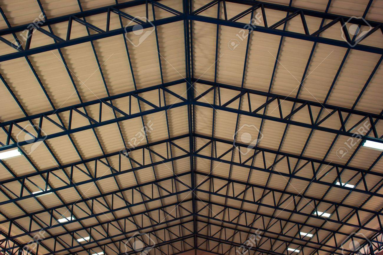 Large Steel Roof Structure. Stock Photo   18846717