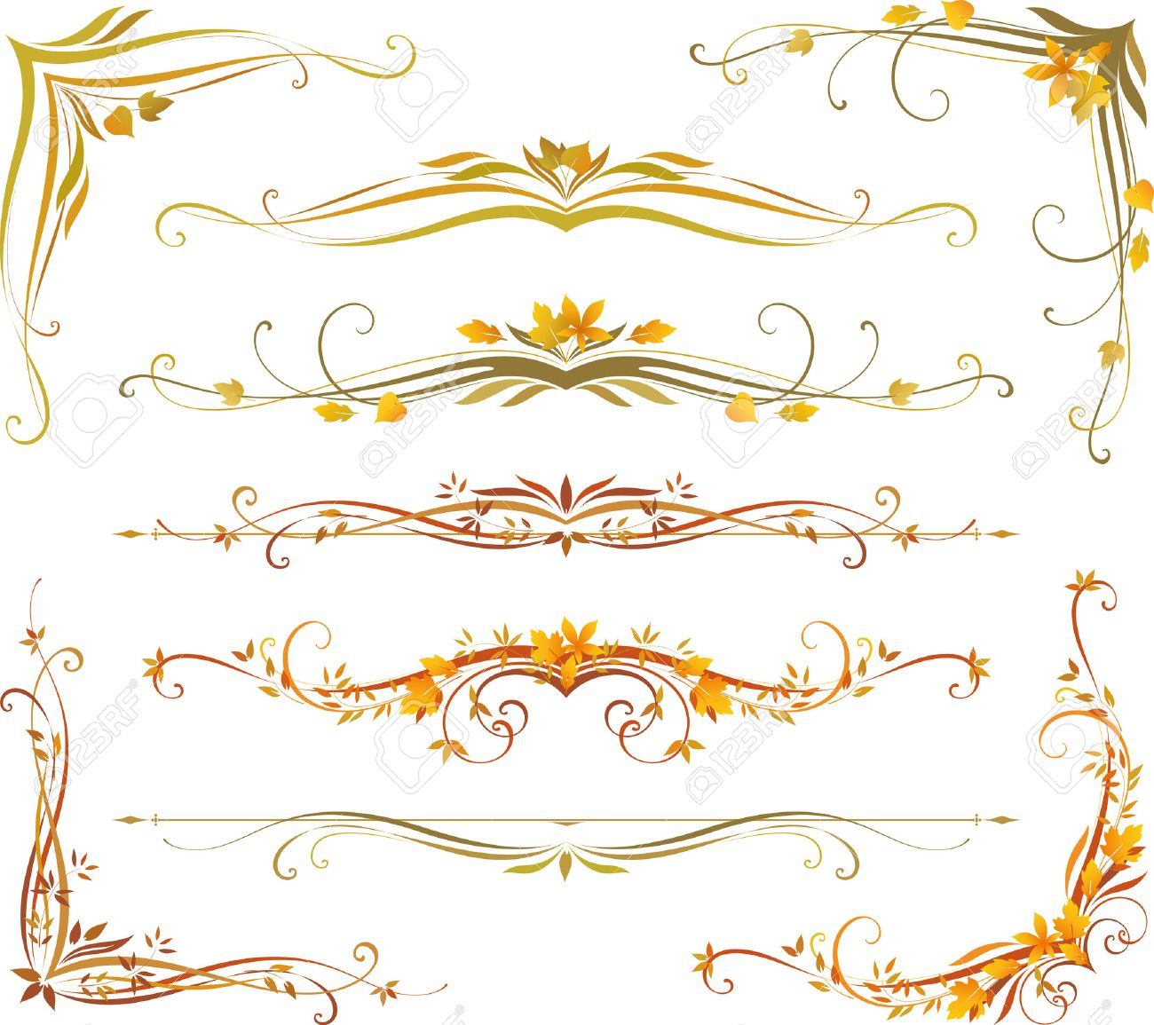vectorized scroll design use for wedding invitations royal