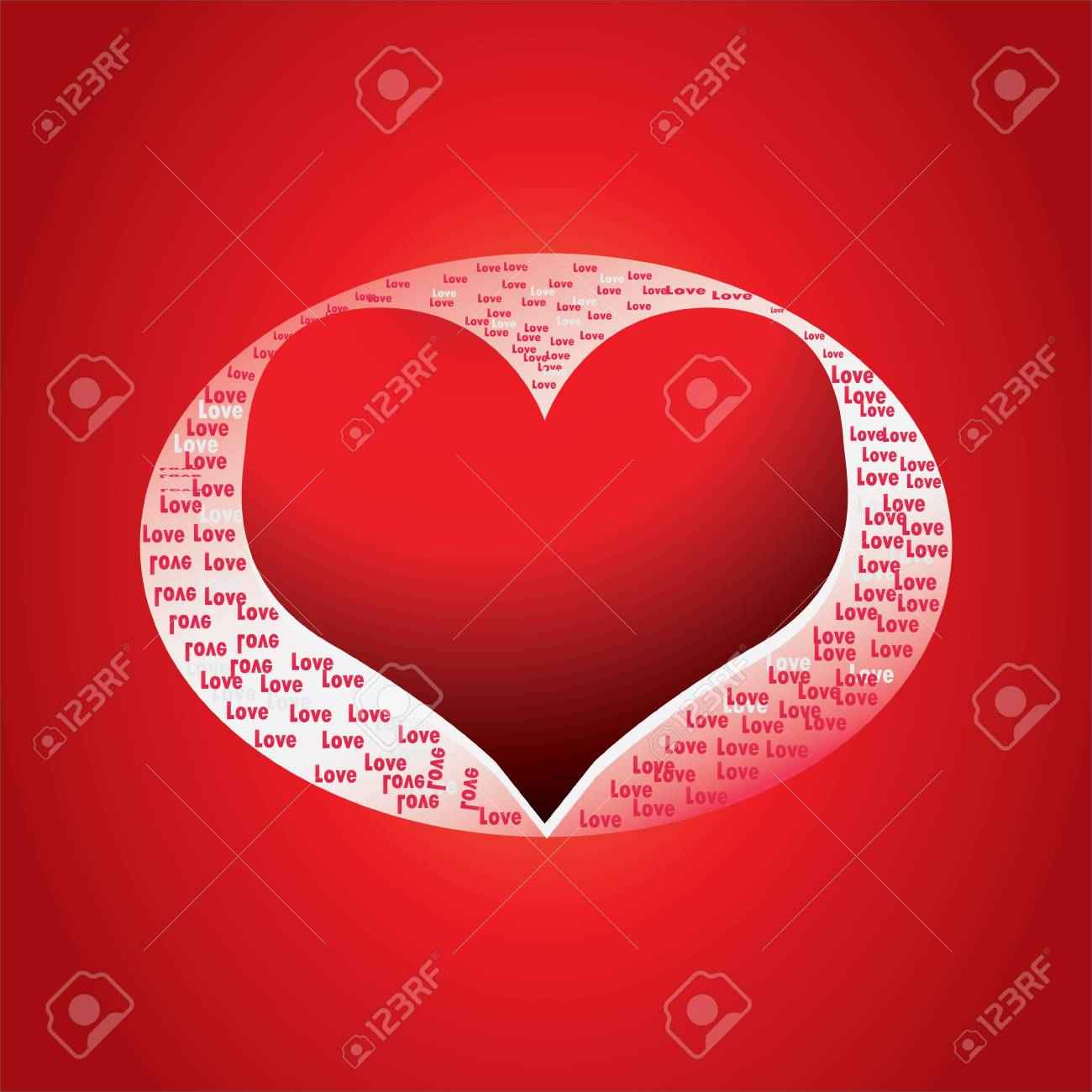 special Valentine's day background with heart Stock Vector - 12437634